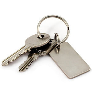 key fob with keys cut from locksmith oxford